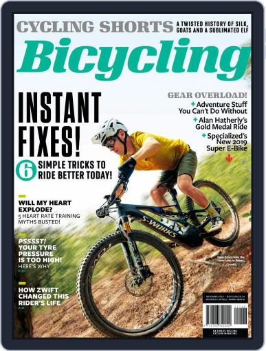 Bicycling South Africa (Digital) November 1st, 2018 Issue Cover