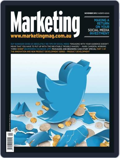 Marketing November 6th, 2012 Digital Back Issue Cover