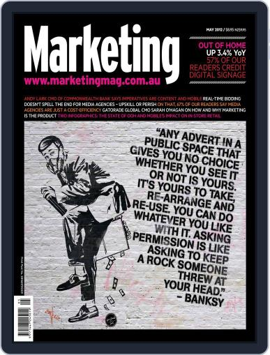 Marketing May 10th, 2012 Digital Back Issue Cover