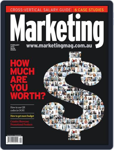 Marketing January 31st, 2012 Digital Back Issue Cover