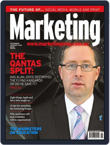 Marketing November 30th, 2011 Digital Back Issue Cover