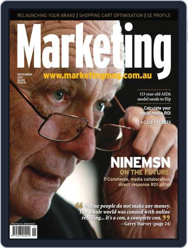 Marketing October 28th, 2011 Digital Back Issue Cover