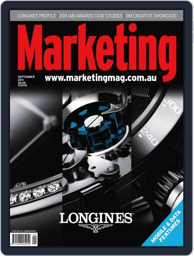 Marketing August 30th, 2011 Digital Back Issue Cover