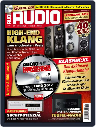 Audio Germany (Digital) April 1st, 2018 Issue Cover