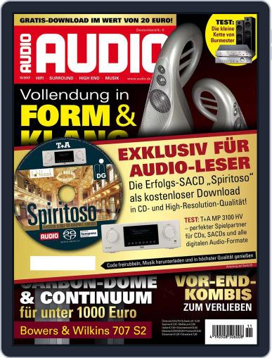 Audio Germany (Digital) November 1st, 2017 Issue Cover