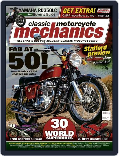 Classic Motorcycle Mechanics October 1st, 2018 Digital Back Issue Cover
