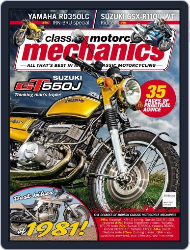 Classic Motorcycle Mechanics March 1st, 2017 Digital Back Issue Cover