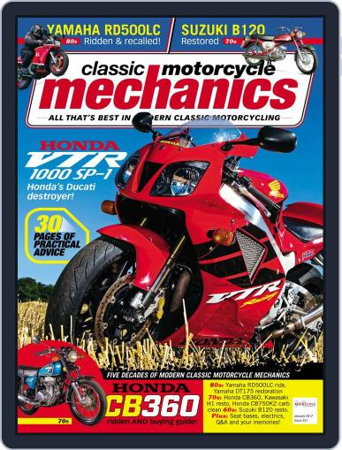 Classic Motorcycle Mechanics January 1st, 2017 Digital Back Issue Cover