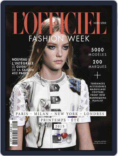 Fashion Week October 20th, 2014 Digital Back Issue Cover