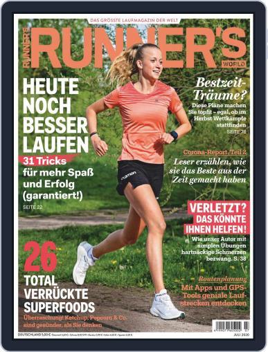 Runner's World Deutschland July 1st, 2020 Digital Back Issue Cover