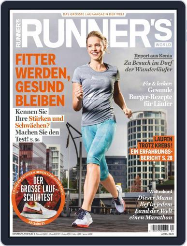 Runner's World Deutschland April 1st, 2020 Digital Back Issue Cover