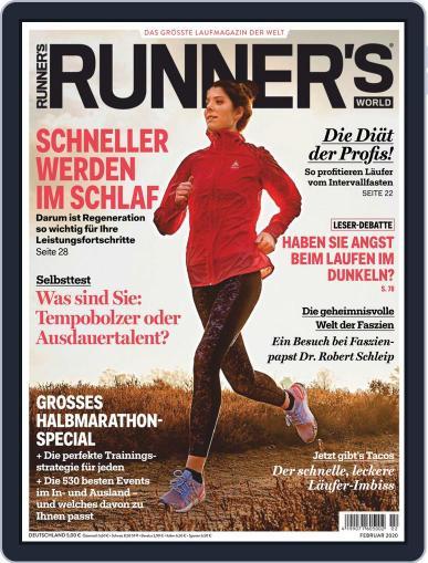Runner's World Deutschland February 1st, 2020 Digital Back Issue Cover