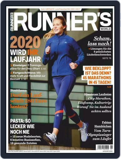 Runner's World Deutschland January 1st, 2020 Digital Back Issue Cover