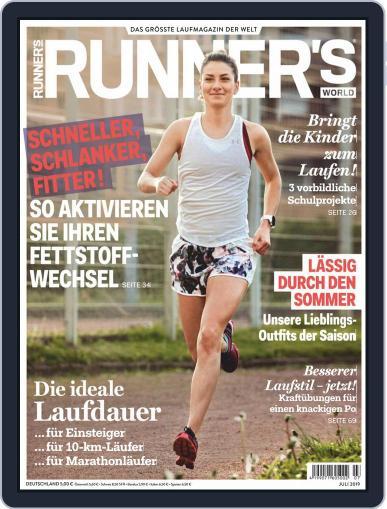 Runner's World Deutschland (Digital) July 1st, 2019 Issue Cover