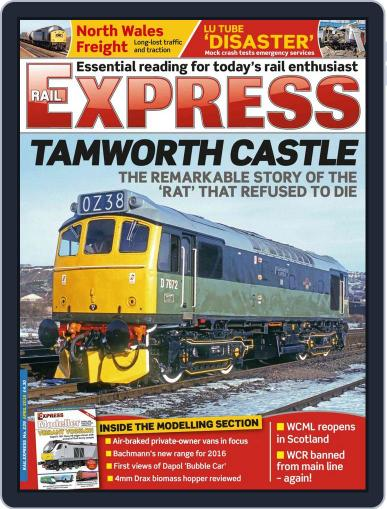Rail Express (Digital) March 15th, 2016 Issue Cover