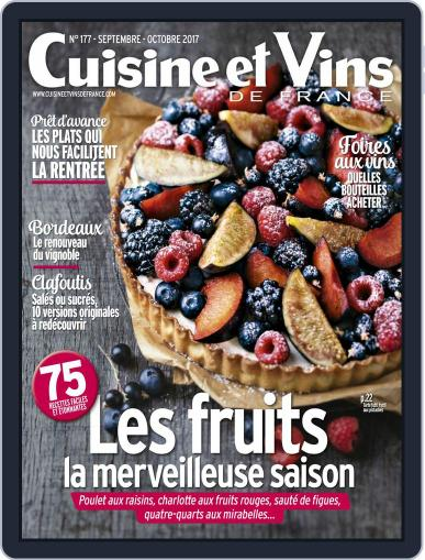 Cuisine Et Vins De France (Digital) September 1st, 2017 Issue Cover