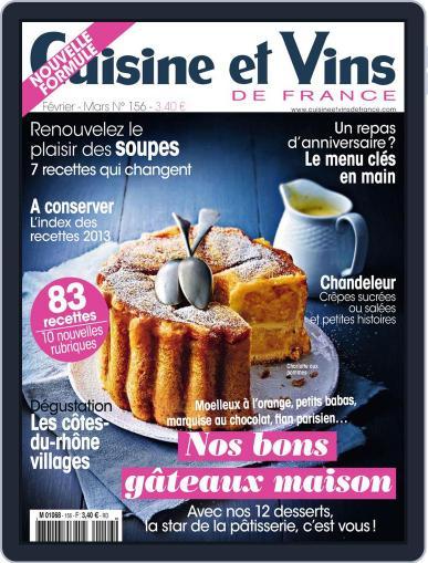 Cuisine Et Vins De France (Digital) January 22nd, 2014 Issue Cover