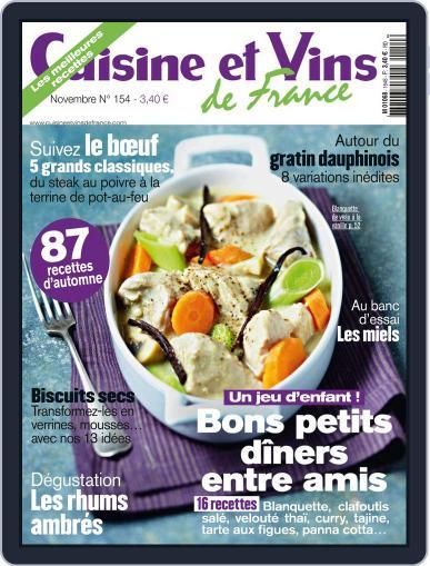 Cuisine Et Vins De France (Digital) October 11th, 2013 Issue Cover