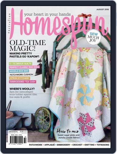 Australian Homespun (Digital) August 1st, 2018 Issue Cover