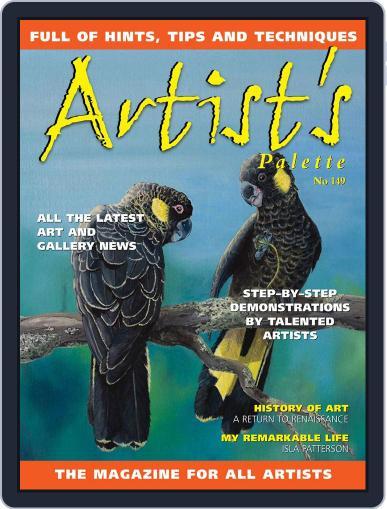 Artist's Palette (Digital) September 1st, 2016 Issue Cover