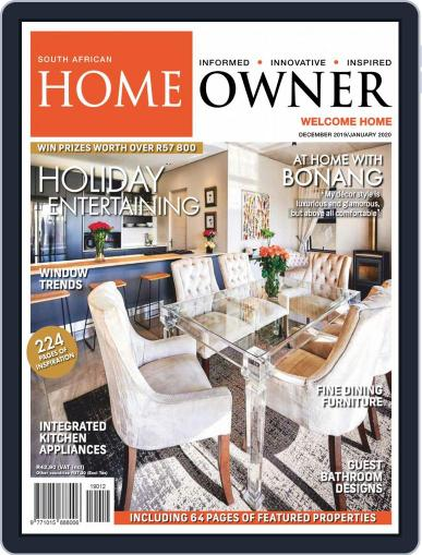 South African Home Owner (Digital) December 1st, 2019 Issue Cover
