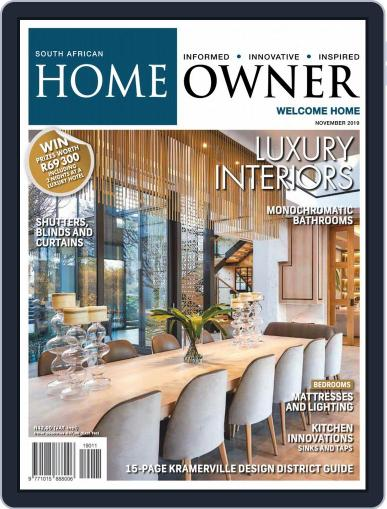 South African Home Owner (Digital) November 1st, 2019 Issue Cover