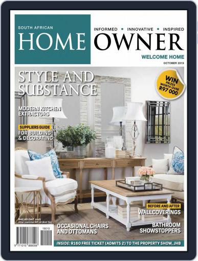 South African Home Owner (Digital) October 1st, 2019 Issue Cover