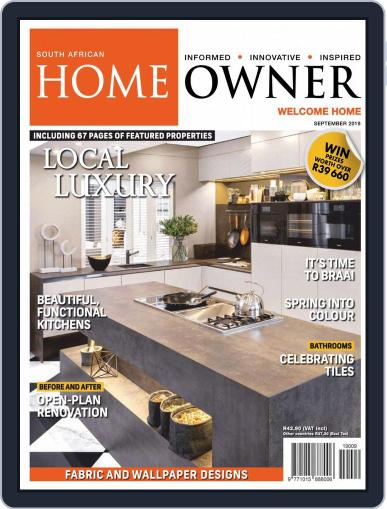 South African Home Owner (Digital) September 1st, 2019 Issue Cover