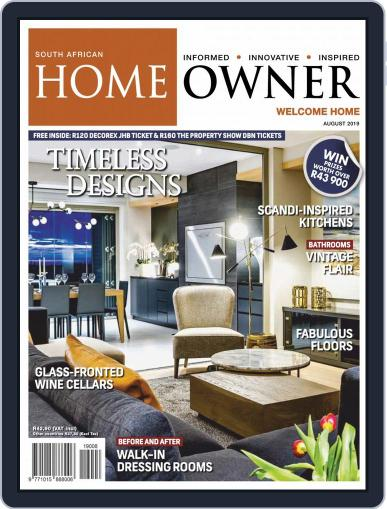 South African Home Owner (Digital) August 1st, 2019 Issue Cover