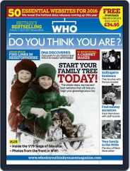 Who Do You Think You Are? (Digital) Subscription January 1st, 2016 Issue