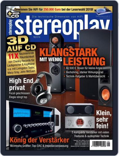 stereoplay January 1st, 2019 Digital Back Issue Cover