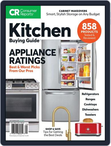 Consumer Reports Kitchen Planning and Buying Guide (Digital) September 1st, 2018 Issue Cover