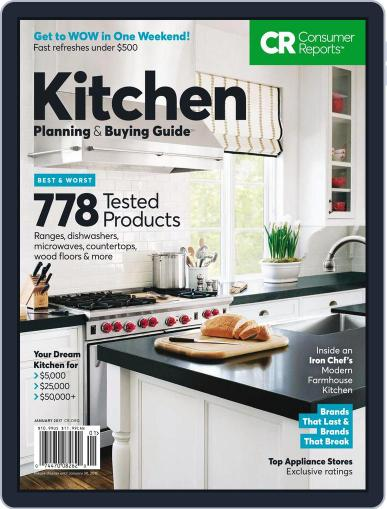 Consumer Reports Kitchen Planning and Buying Guide (Digital) January 1st, 2017 Issue Cover
