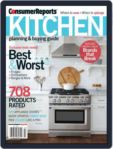 Consumer Reports Kitchen Planning and Buying Guide (Digital) April 17th, 2013 Issue Cover