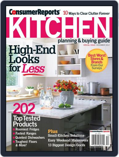 Consumer Reports Kitchen Planning and Buying Guide (Digital) October 17th, 2012 Issue Cover
