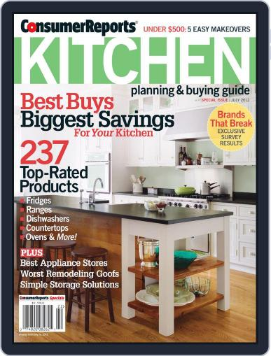 Consumer Reports Kitchen Planning and Buying Guide (Digital) April 17th, 2012 Issue Cover
