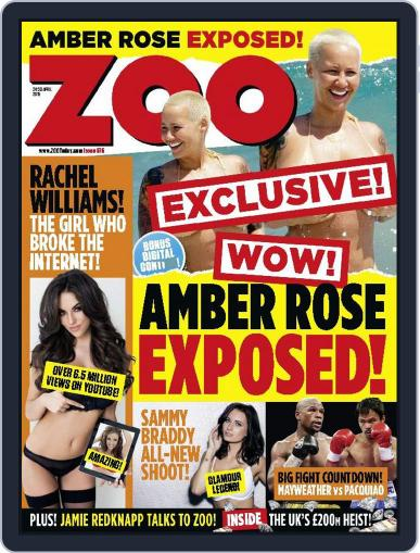 Zoo Magazine Uk April 24th, 2015 Digital Back Issue Cover