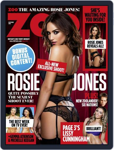 Zoo Magazine Uk March 17th, 2015 Digital Back Issue Cover