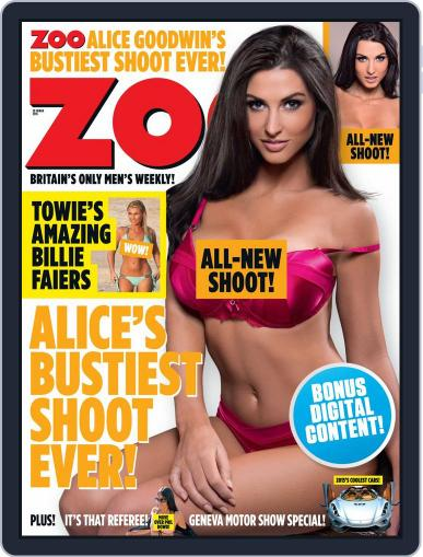Zoo Magazine Uk March 10th, 2015 Digital Back Issue Cover