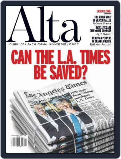 Journal of Alta California (Digital) March 15th, 2019 Issue Cover