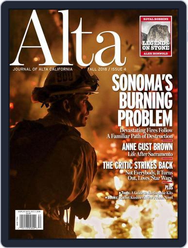 Journal of Alta California (Digital) September 1st, 2018 Issue Cover