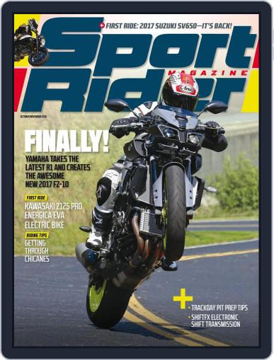 Sport Rider (Digital) September 3rd, 2016 Issue Cover