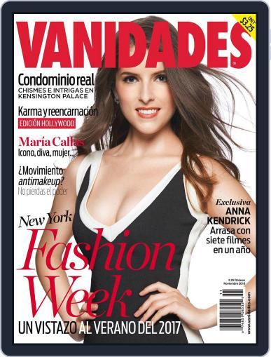 Vanidades Usa (Digital) November 1st, 2016 Issue Cover