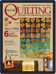 McCall's Quilting (Digital) Subscription September 1st, 2018 Issue