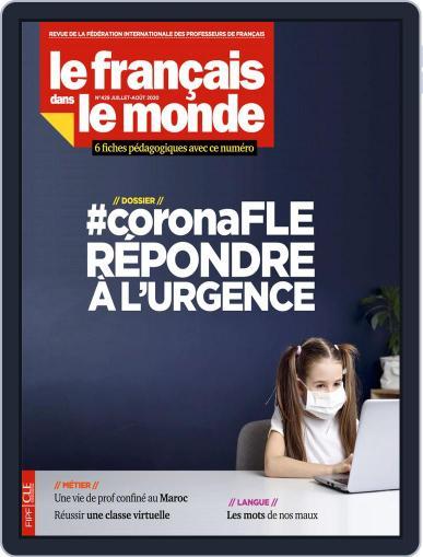 Le Français Dans Le Monde July 1st, 2020 Digital Back Issue Cover