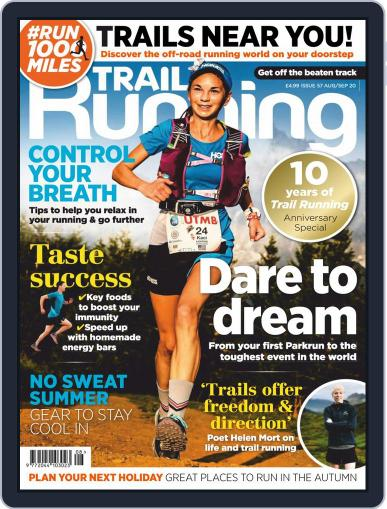 Trail Running August 1st, 2020 Digital Back Issue Cover