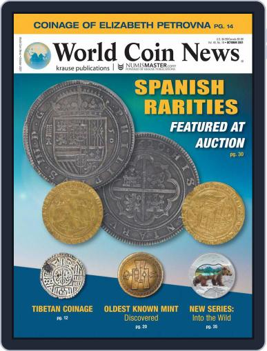 World Coin News Magazine (Digital) October 1st, 2021 Issue Cover