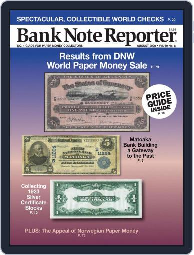 Banknote Reporter August 1st, 2020 Digital Back Issue Cover