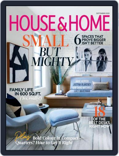 House & Home September 1st, 2020 Digital Back Issue Cover