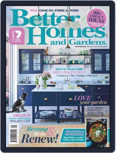 Better Homes and Gardens Australia (Digital) September 1st, 2020 Issue Cover